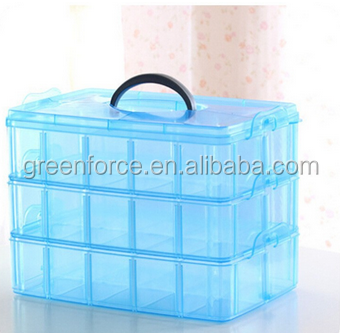 Wholesale Plastic Containers Jewelry box Loom Bands Storage Nail Box 24 Compartments