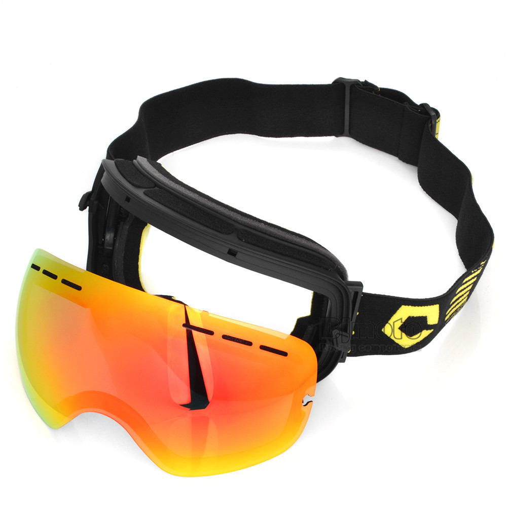 Motocross Goggles Glasses Snow Sports Snowboard with Anti-fog UV400 for Men Women Snowmobile Skating Mask Racing Goggles (10)