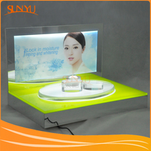 Retail Display Countertop LED Acrylic Professional Makeup Stand