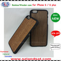 2015 New and hot sale pc wooden cover for iphone 6 wooden cases IPC366
