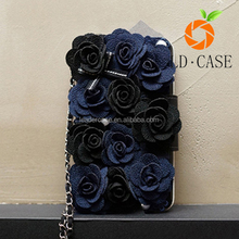 book style card holder flower leather phone case for samsung Galaxy Note 7