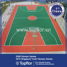 Olympics outdoor rubber floor for basketball in stock