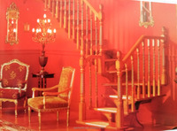 Fashion solid wood staircase, beech, oak stairs, interior stairs, TS-180