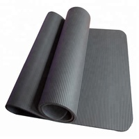 china manufacturer price private brand black extra thick nbr yoga mat 20mm