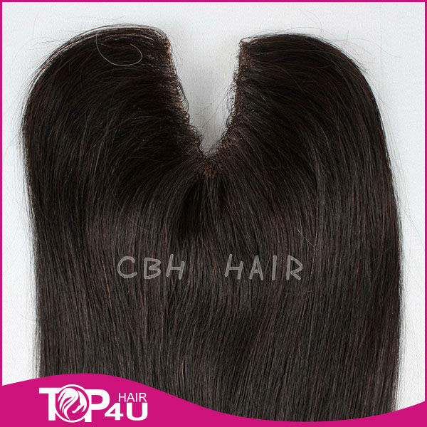 2013 Hot sale 100% unprocessed v shape hair piece in extension