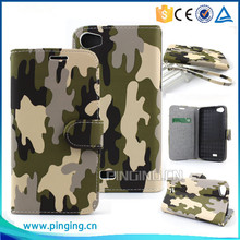 New design cool camouflage leather case for ZTE Blade A1 flip stand cover