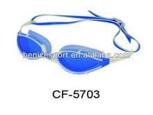 2016 Wide frame, PU nose piece and lasting anti-fog customized adult swimming goggles(CF-5703)