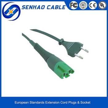 YH03 European VDE 2 Round Pin Power Cable