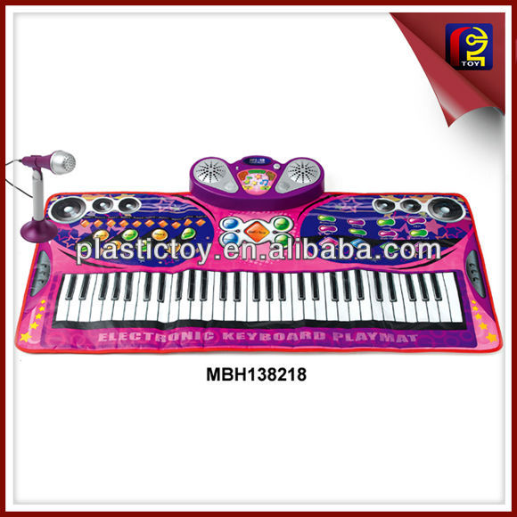 61 Key microphone keyboard baby play mat MBH138218