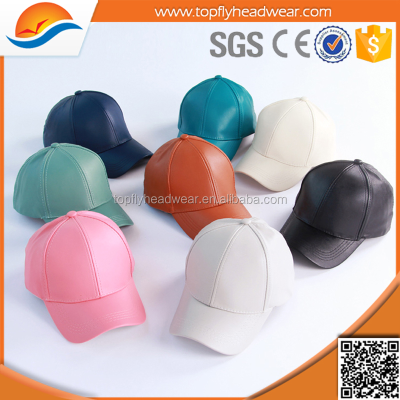 high quality leather baseball cap for mix color leather hat