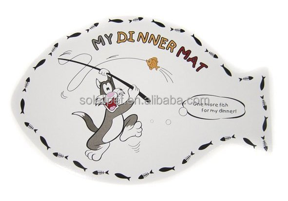 Best Price Plastic Anti-Slip Cat Dinner Mat