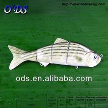 Hot selling !!! 2014 popular super large hard plastic ABS 3D eyes 4-section strong body minnow fishing lure