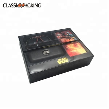 Latest product classic black new style display box custom printed gift boxes