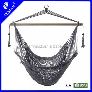 Camping cotton make rope hammock chair view make rope for Make a rope hammock