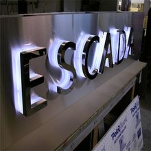 Casting Craftsman Waterproof Anti-rust Metal Acrylic Led Channel Letter Signs, backlit letter sign