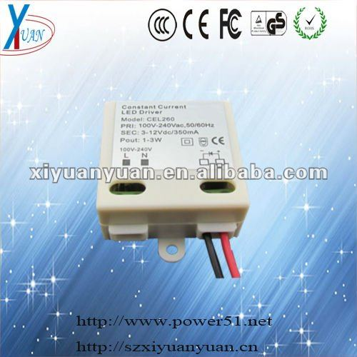 Constant current 3 watt led driver circuit 350ma for led display
