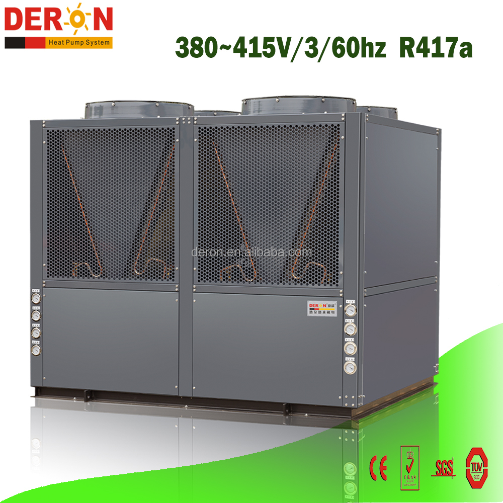 Deron high efficiency OEM large size air to water heat pump heating only with Copeland R417a 110kw for Aisa Philippine