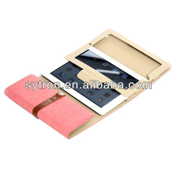 Slim shell case wallet leather case cover for microsoft surface tablet/ipad mini 4
