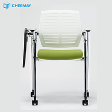 quality ergonomic folding office chairs with tables attached/chairs with writing pad