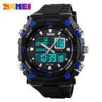 new hot products 2015 analog digital watches men EL back light accept paypal