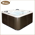 5 people outdoor plastic spa massage rectangular hot spa tub with CE approved