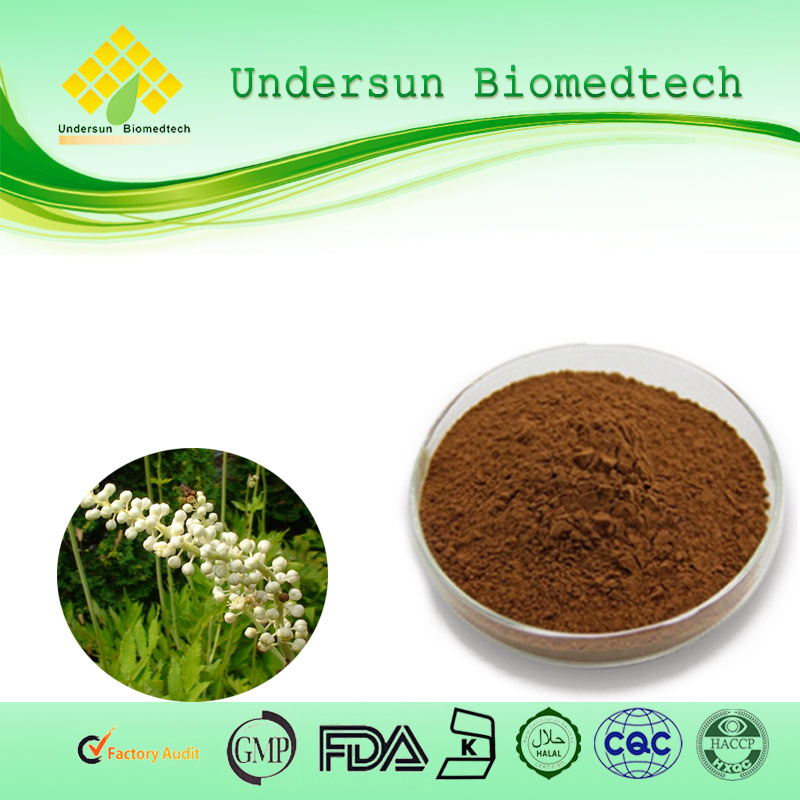 Black Cohosh Extract Triterpenoid saponis 2.5% Triterpene Glycosides powder