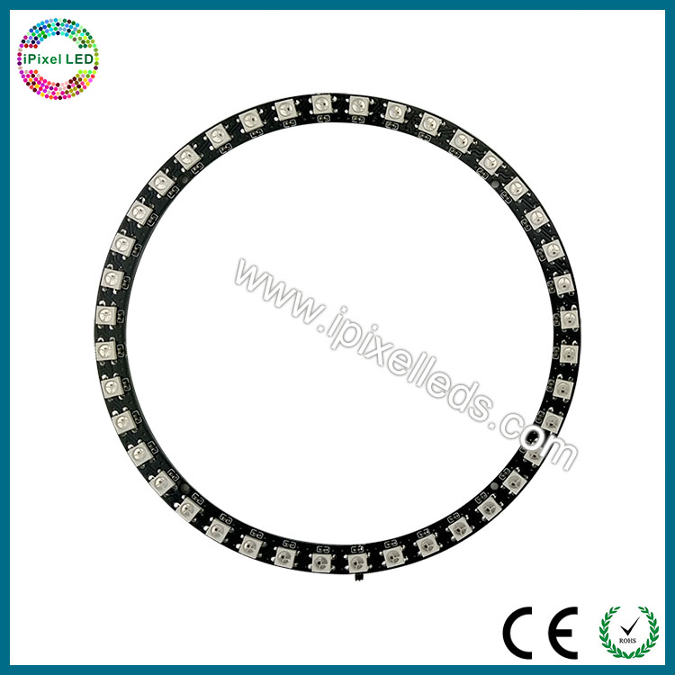SMD 5050 rgb ws2812b 40 leds addressable color changing led ring light DC5V