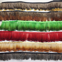Natural color Pheasant Feather Fringe feather trim for dress
