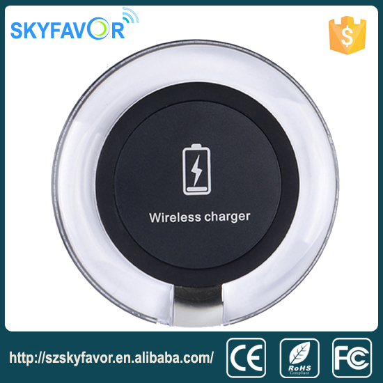 Fantasy circular led light wireless charger module coil good safety 5v 1a universal wireless charger