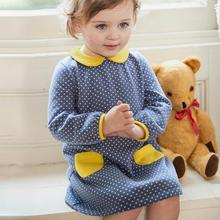 S1019Y Knitted cotton <strong>girl's</strong> <strong>dress</strong> girl autumn clothes long <strong>dress</strong>
