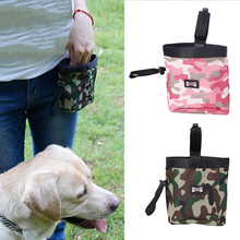 Camouflage pet training bag travel dog snack bag professional pockets multifunctional with garbage bag treat tote