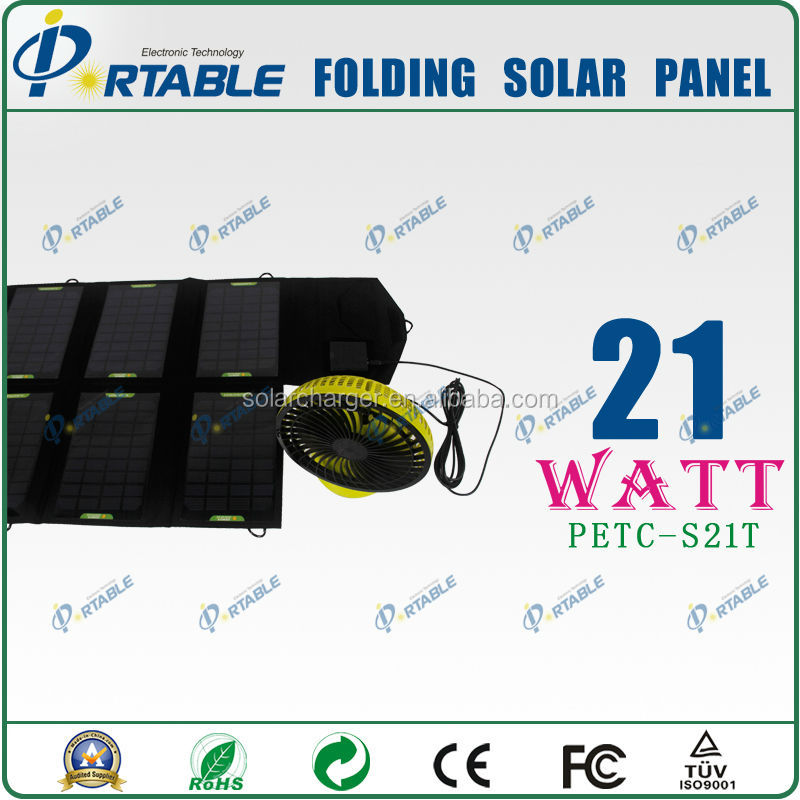 21W portable solar panel for camping travelling