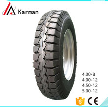 Tricycle tuk tuk tire 4.00-8 tire casing and inner tube