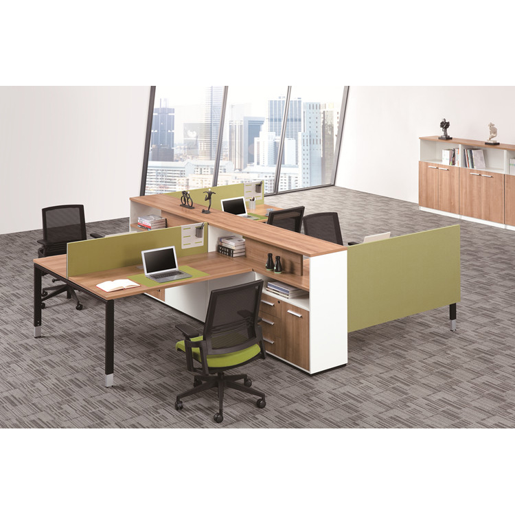 wooden office cubicle office partition table furniture