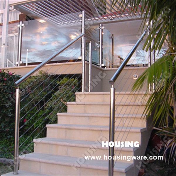 treppe drahtseil gel nder balustrade mit 316 grade edelstahl drahtseile f r outdoor br stung und. Black Bedroom Furniture Sets. Home Design Ideas