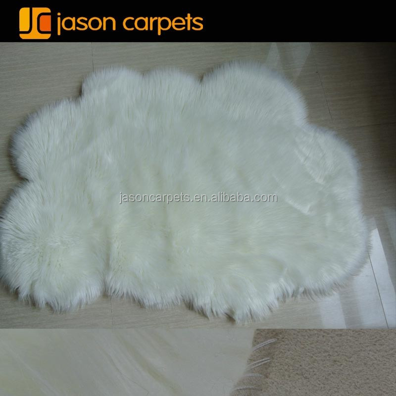 white cloud shape kids faux fur rugcarpet - Faux Fur Rugs