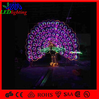 2014 China factory large peacock lights for outdoor