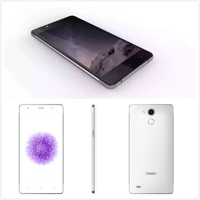 5.5 inch 1280*720 Fingerprint Scanner Smartphone 2 GB+16GB Two camera 5+8MP 4G Lte Mobile Phone Unlocked Cell Phone