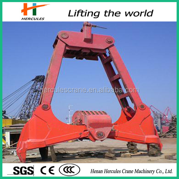 Henan Hercules Grapple Bucket 6 ton Dredging Grab Bucket for sale