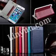 Luxury ultra thin leather flip Stand Case for iPhone 6, for iPhone 6 slim leather case