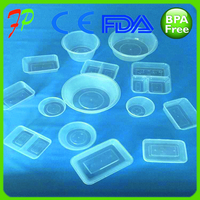 Plastic disposable airtight food container