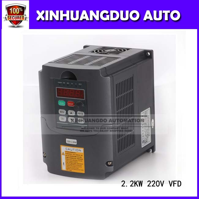 CNC 2.2kw 10A 220V VFD Variable Frequency Drive Inverter High Quality 3hp Auto Voltage Regulation (Avr) Technique f