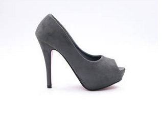 Online sale model 001 gray suede upper red putsole 12cm high <strong>heel</strong> 3cm plarform size range 5-11 Women high <strong>heel</strong> fashion shoes