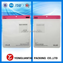 2014 Promotional Transparent White Zipper Bags With Logo