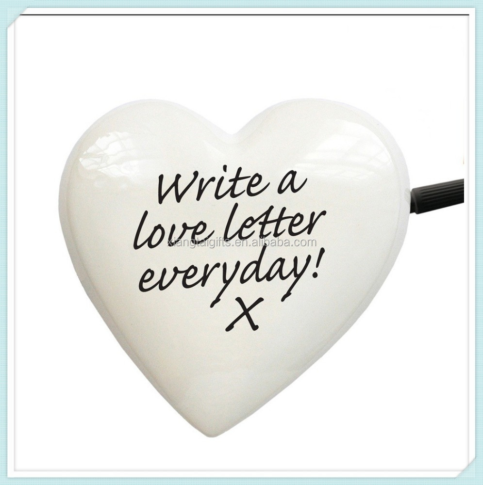 clever design heart shape ceramic notepads