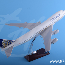 handmade custom made OEM boeing 747 1:150 scale 47cm United airliner with stand for display