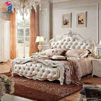 Comfortable white king bed