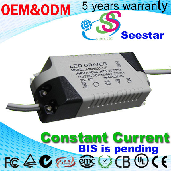LED Down light driver,8W Spot light led driver external constant current,ceilling lights 15W OVP non-isolate power supply driver