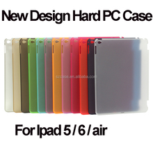 Fashion dull polish hard pc back cover case for ipad 5 6 air new design case for ipad6