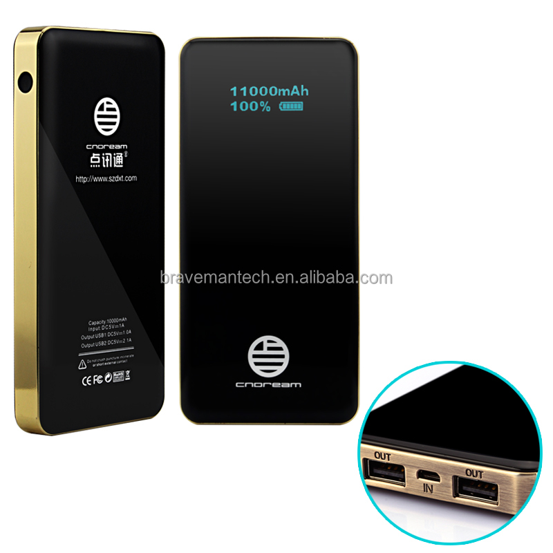 Portable OLED 10000mAh power bank for mobile phone charger
